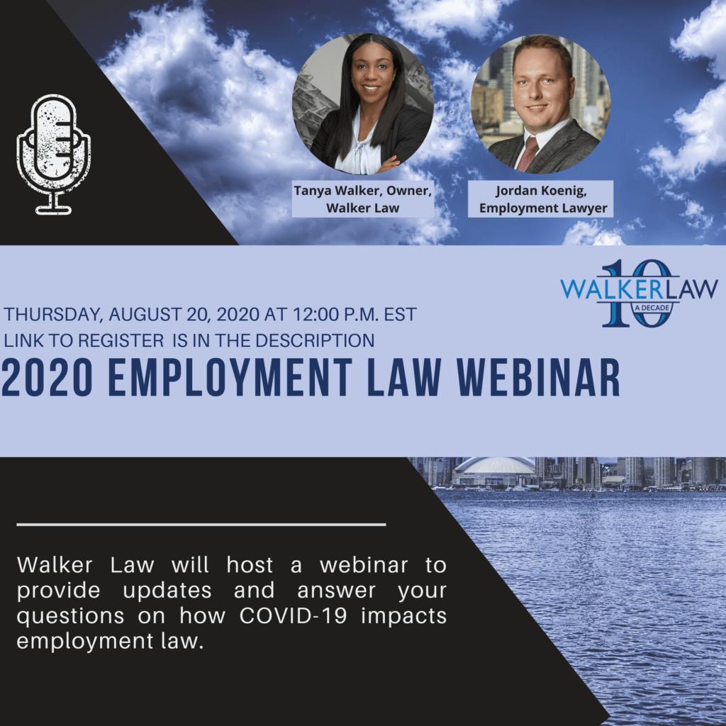 Employment Law Webinar Part 5 - Walker Law