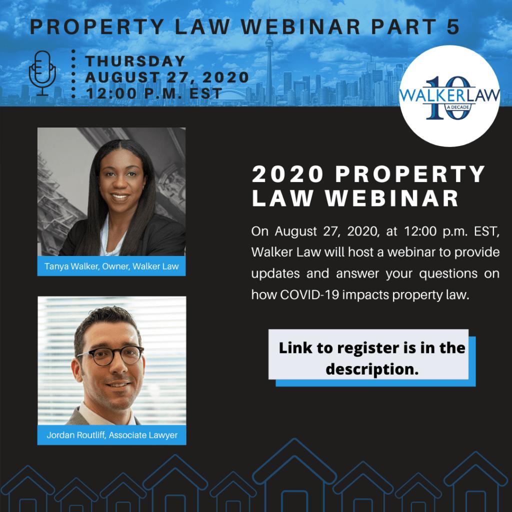 Property Law Webinar Part 5 - Walker Law