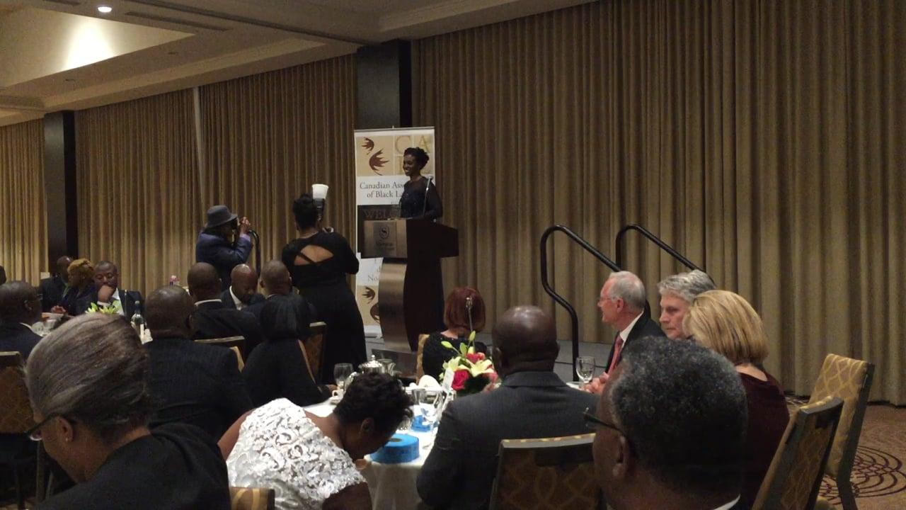October 16, 2015 acceptance speech at the CABL Gala