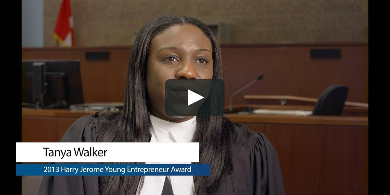 Tanya Walker 2013 Young Entrepreneur Award